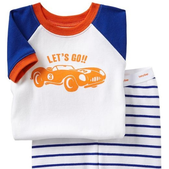 0a1db3aeb GAP Pajamas | 5t Nwt Baby Race Car Striped Pjs | Poshmark